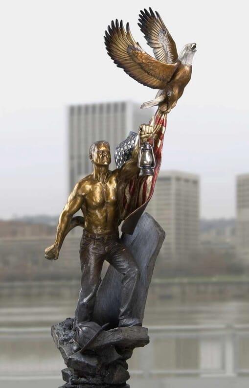 911 Memorial Bronze Sculpture