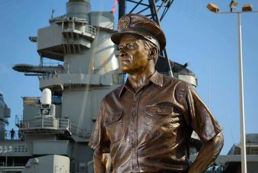 Admiral Nimitz Bronze Sculpture