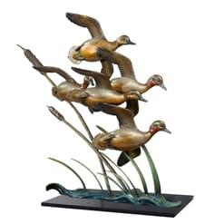 Bird Bronze Sculpture - Against The Wind
