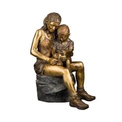 Boy and Girl Bronze Sculpture-1