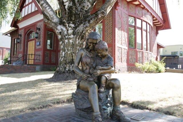 Boy and Girl Bronze Sculpture