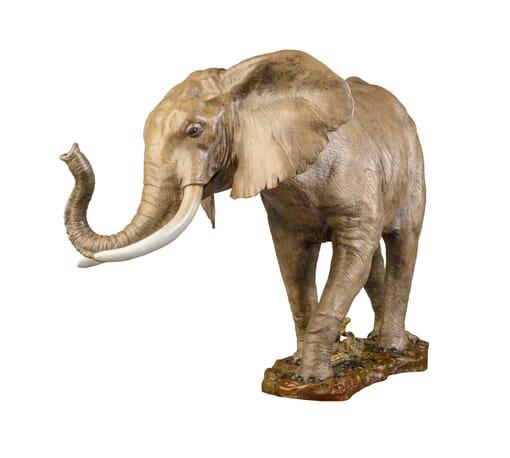 Bronze African Elephant Sculpture-2