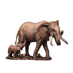 Bronze African Elephants Sculpture