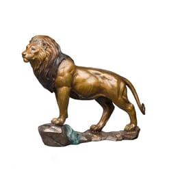 Bronze African Lion Sculpture