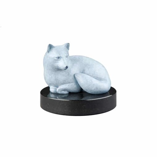 Bronze Arctic Fox Sculpture