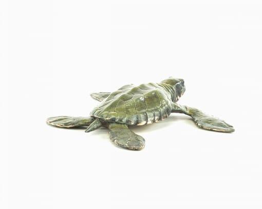 Bronze Baby Sea Turtle Sculpture-3