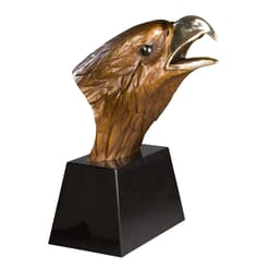 Bronze Bald Eagle Bust Sculpture