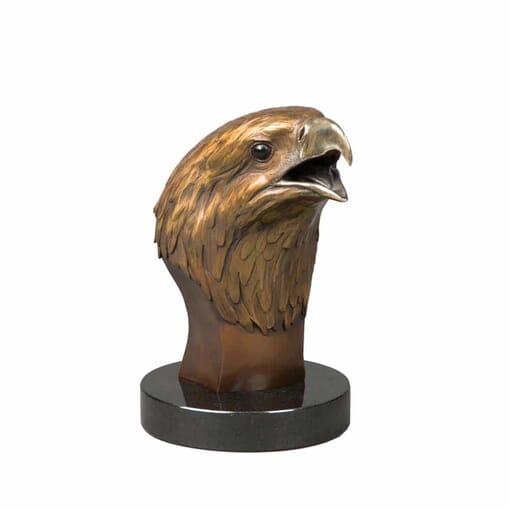 Bronze Bald Eagle Head Sculpture