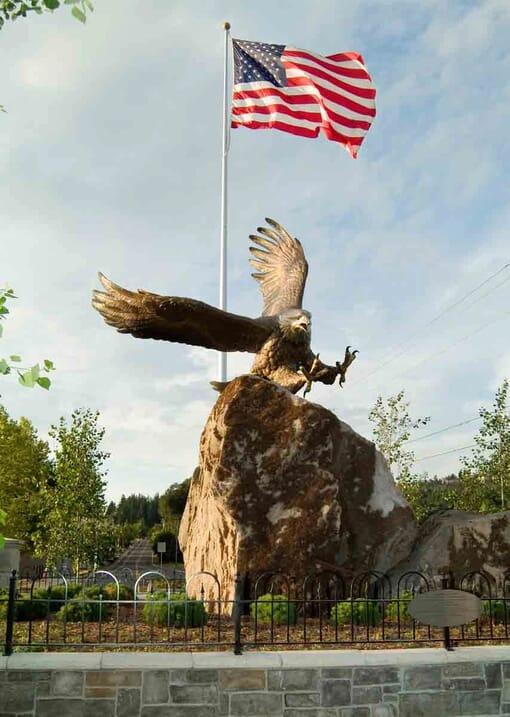 Bronze Bald Eagle Sculpture - Guardian Spirit-1