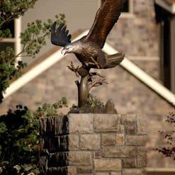 Bronze Bald Eagle Sculpture - Guardian Spirit-3