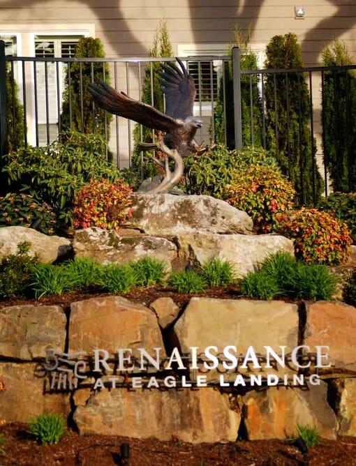 Bronze Bald Eagle Sculpture - Guardian Spirit-4