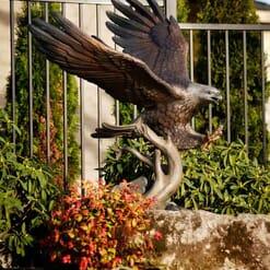 Bronze Bald Eagle Sculpture - Guardian Spirit-5