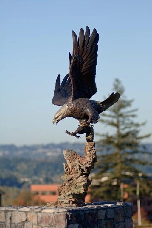 Bronze Bald Eagle Sculpture - Guardian Spirit-7