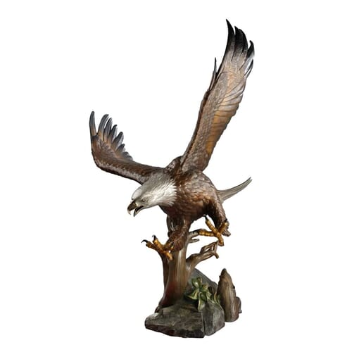 Bronze Bald Eagle Sculpture - Guardian Spirit