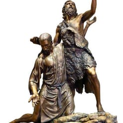Bronze Baptism of Christ Sculpture-1