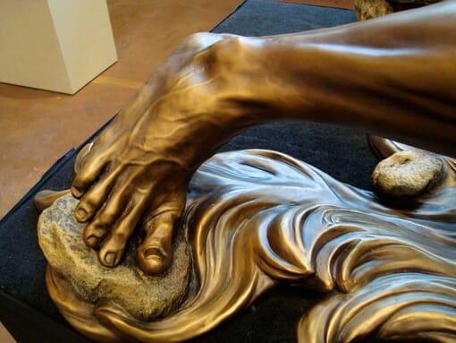 Bronze Baptism of Christ Sculpture-3