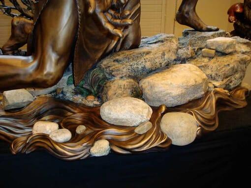 Bronze Baptism of Christ Sculpture-6