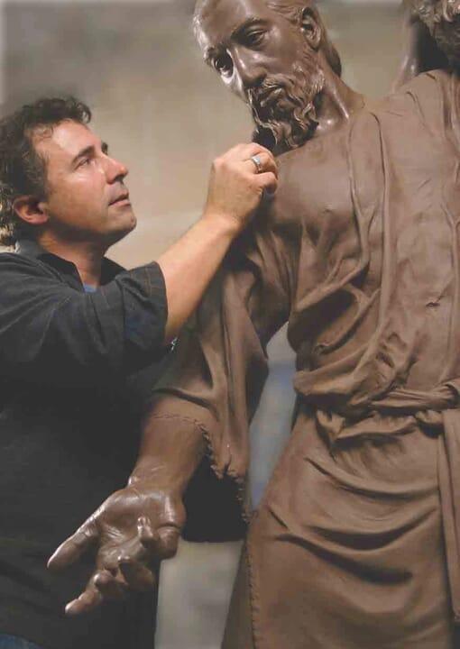 Bronze Baptism of Christ Sculpture-8
