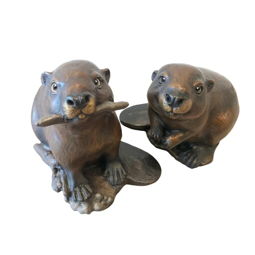 Bronze Beavers Sculpture - Business Partners