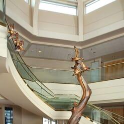Bronze Beavers and Ducks Monument Sculpture-1