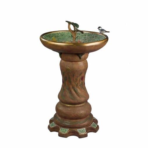 Bronze Bird Fountain Sculpture