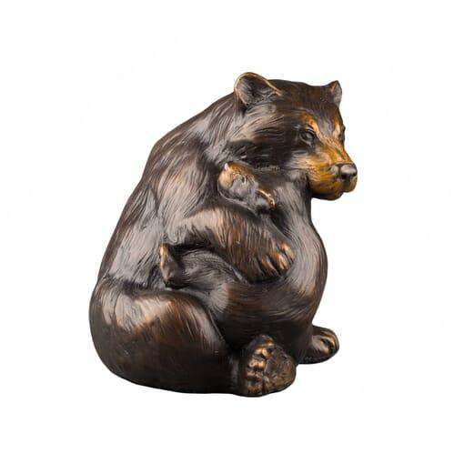 Bronze Black Bear and Cub Sculpture