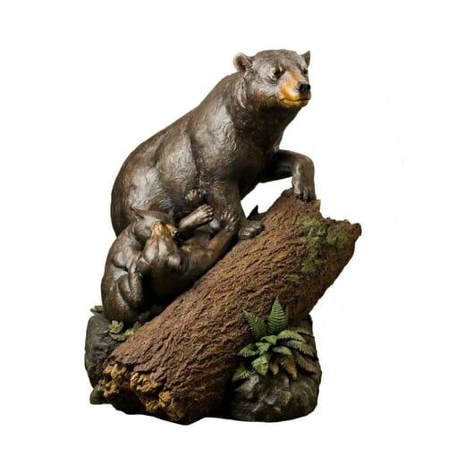 Bronze Black Bears Sculpture