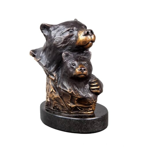 Bronze Bookend - Bear Hug