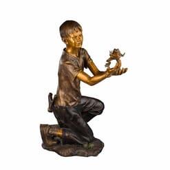 Bronze Boy Sculpture - A Boy's Life