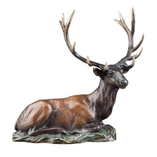 Bronze Bull Elk Sculpture - Mini