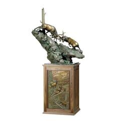 Bronze Bull Elk Sculpture - The Battle