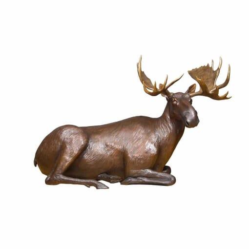 Bronze Bull Moose Sculpture - Power of Presence-3