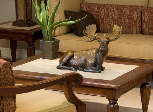 Bronze Bull Moose Sculpture - Power of Presence-mini