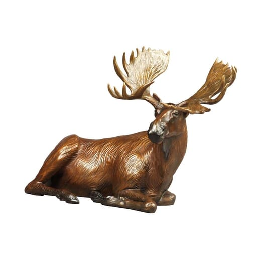 Bronze Bull Moose Sculpture - Power of Presence