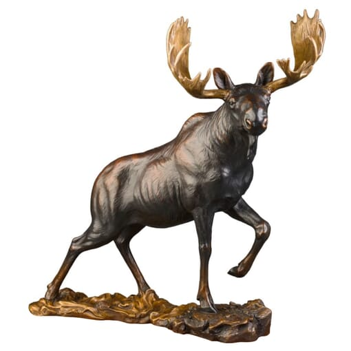 Bronze Bull Moose Sculpture