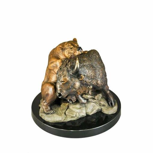 Bronze Bull and Bear Sculpture