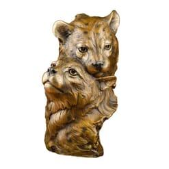 Bronze Cheetah Cubs Sculpture