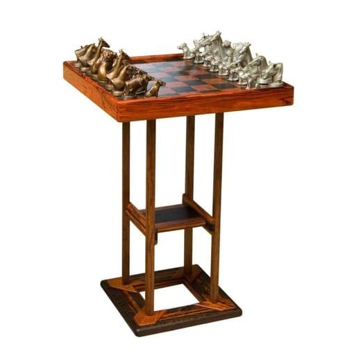 Bronze Chess Set - African