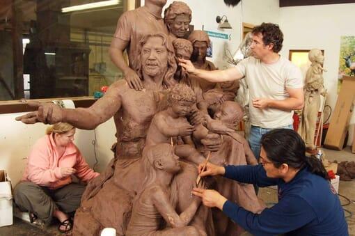Bronze Christ's Family Sculpture-1