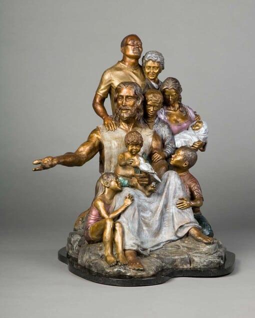 Bronze Christ's Family Sculpture-2