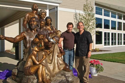 Bronze Christ's Family Sculpture
