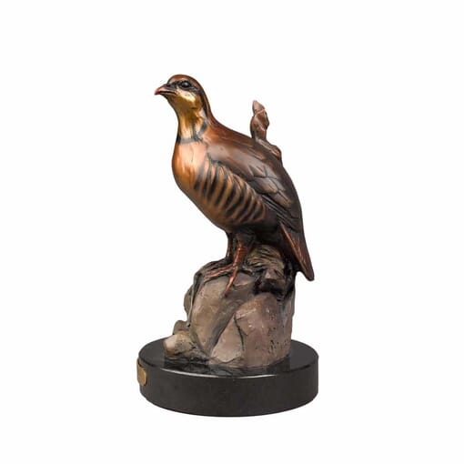 Bronze Chukar Sculpture