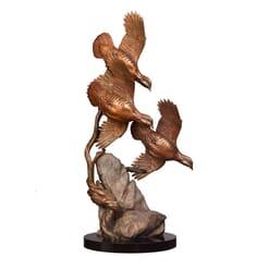 Bronze Chukars Sculpture
