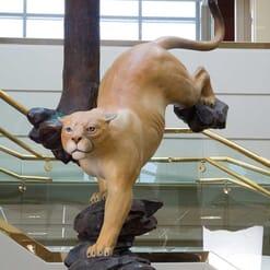 Bronze Cougar Sculpture-1