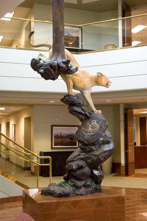 Bronze Cougar Sculpture