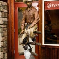 Bronze Cowboy and Dog Sculpture-1