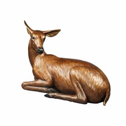 Bronze Doe Sculpture