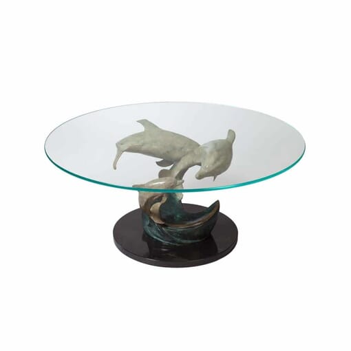 Bronze Dolphin Table Sculpture