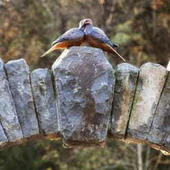 Bronze Doves Sculpture