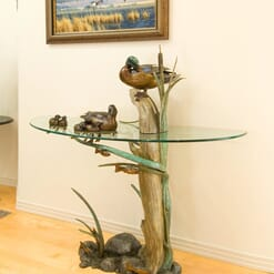 Bronze Duck Pond Glass Table - Family Ties-1